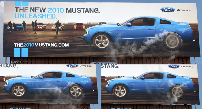 Ford Mustang Billboard