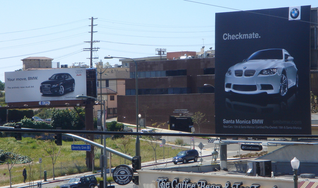 BMW Audi Billboard Battle