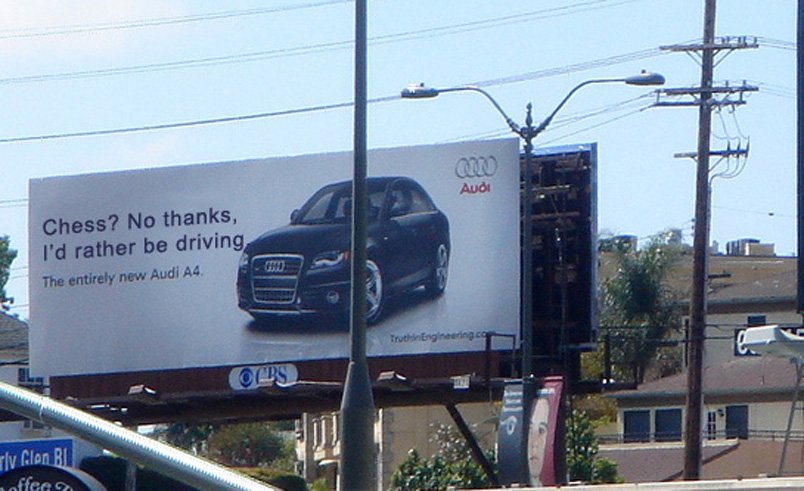 Chess Audi Billboard