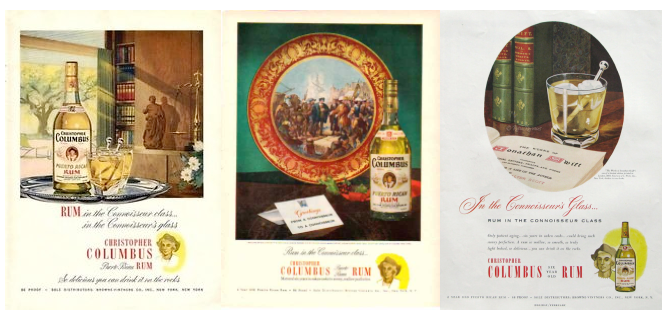 Christopher Columbus Vintage Rum Ads