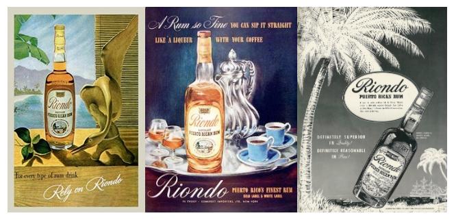 Vintage Riondo Rum Ads