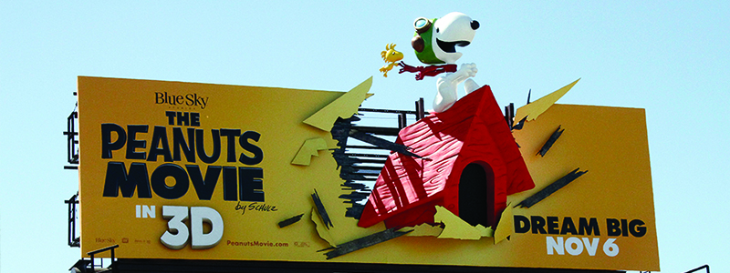 Peanuts Movie 3D Billboard