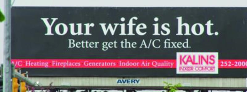 Hot Wife Funny Billboard