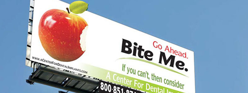Bite Me Dental Billboard