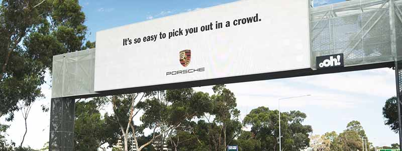 Porsche Billboard Advertisement