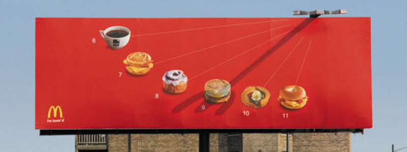 McDonalds What Time is It Billboard