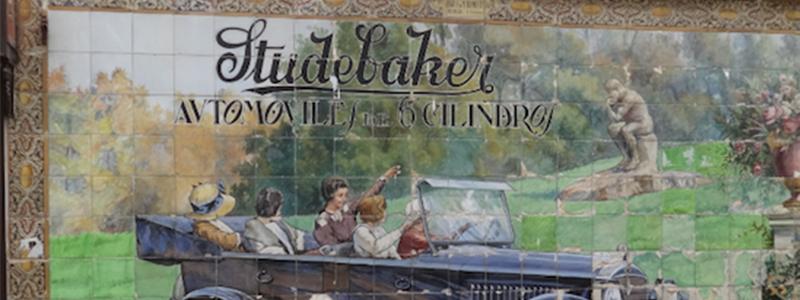 Vintage Spanish Tile Billboard