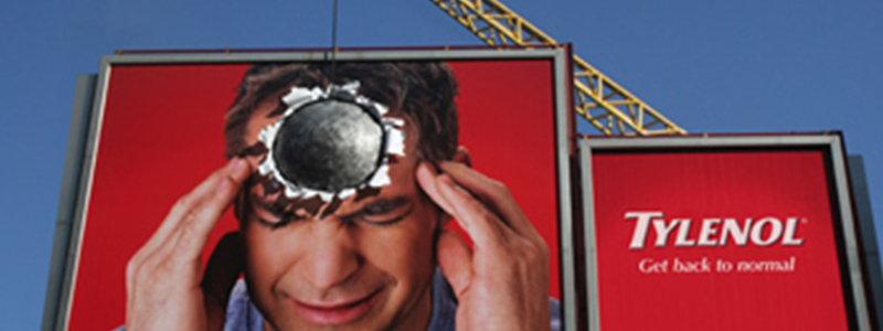 Tylenol Wrecking Ball Outdoor Media