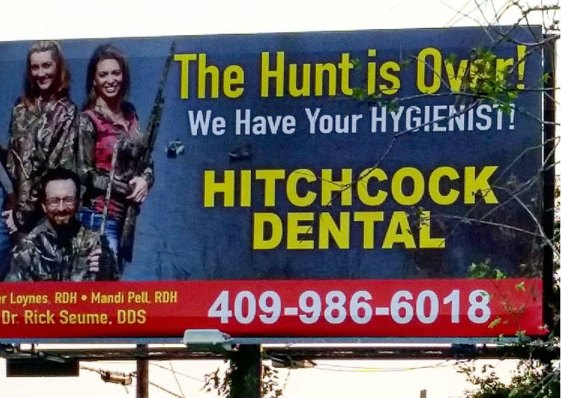 Hitchcock Dental Advertising Fail