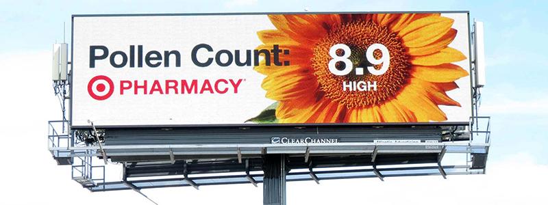 Target Pollen Billboard