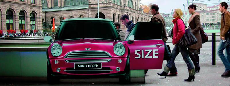Mini Outdoor Advertising Idea