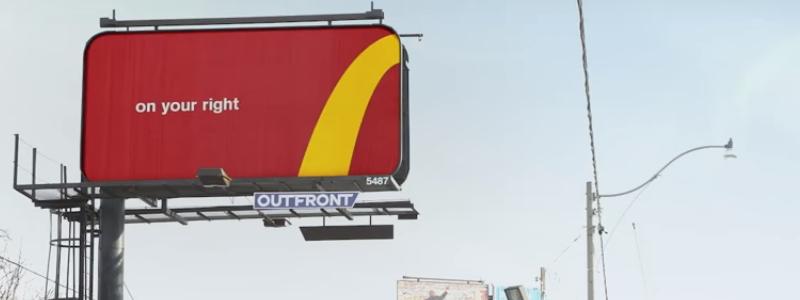 McDonalds Wayfinding Billboard