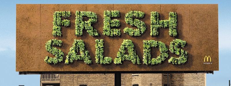 how to design a restaurant billboard