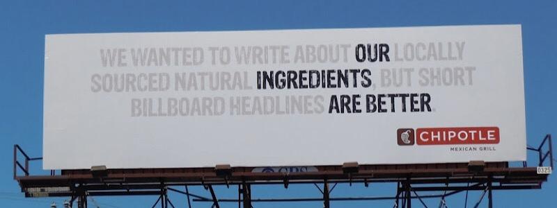 restaurant billboard how to