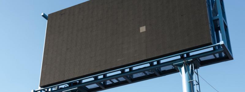 blank digital billboard